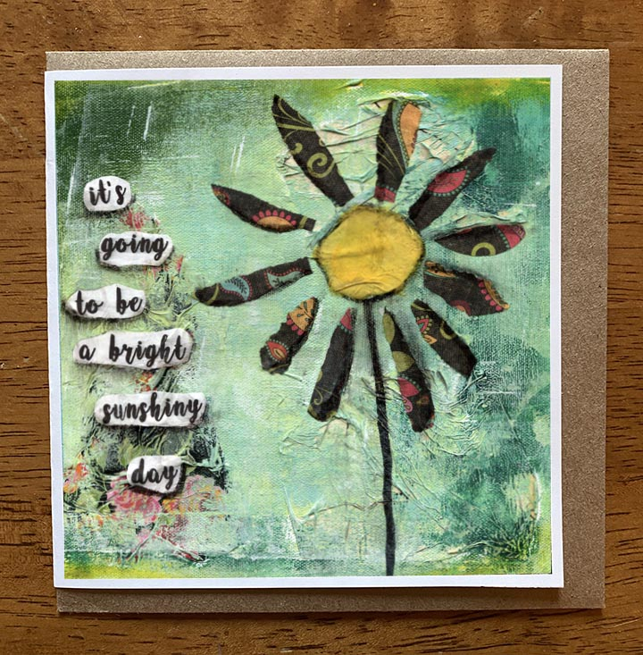 Bright Sunshiny Day..... 5 x 5 greeting card