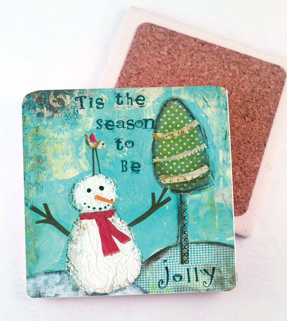 Tis the Season.. absorbant stone coaster