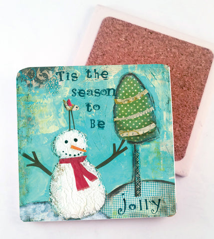 Tis' the Season..... absorbant stone coaster