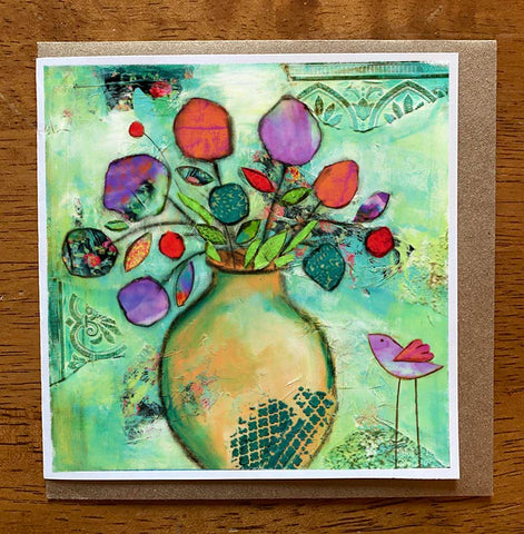 Joyful Bouquet.. 5 x 5 greeting card