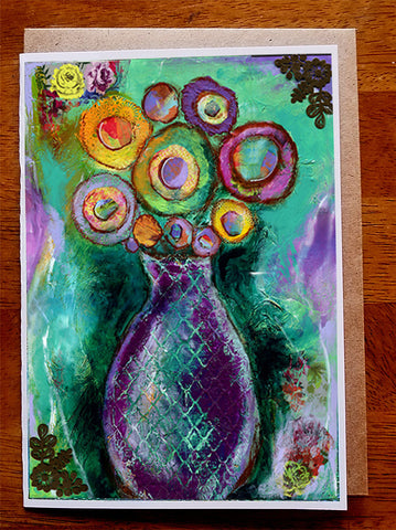 Purple vase...... Greeting Card