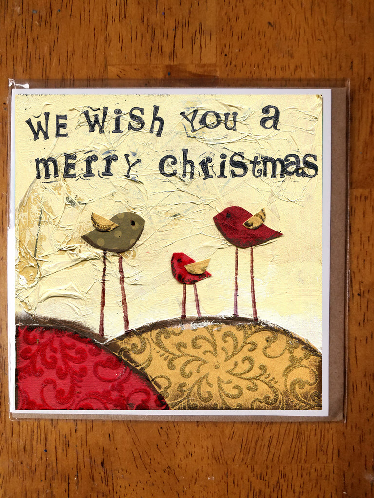 We wish You a Merry Christmas 5 x 5 card with envelope