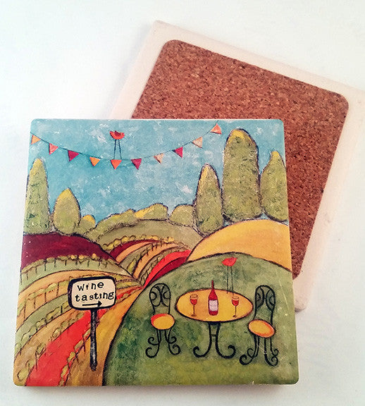 Winery... absorbant stone coaster