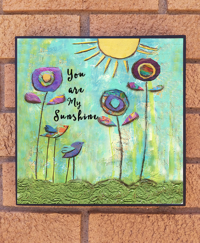 You are my Sunshine. wood block print