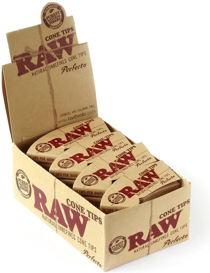 Raw Perfecto Cone Tips - Pack of 24 - Smoker's World of Hollywood
