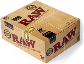 Raw Classic King Size Slim Rolling Paper Full - Box Of 50 Packs - Smoker's World of Hollywood