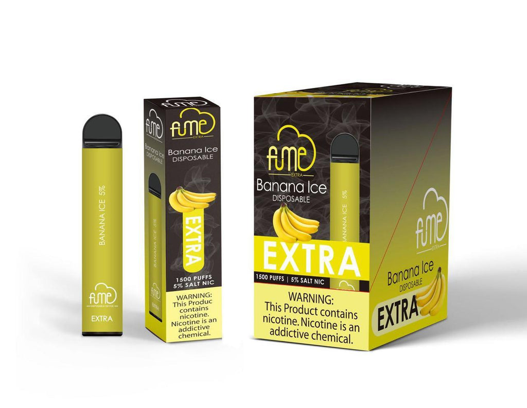 Fume extra disposable Vape 1500 Puffs Banana ice