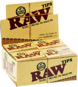 Raw Pre-rolled Tips - Pack of 20 - Smoker's World of Hollywood