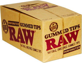 Raw Perforated Gummed Tips - Pack of 24 - Smoker's World of Hollywood