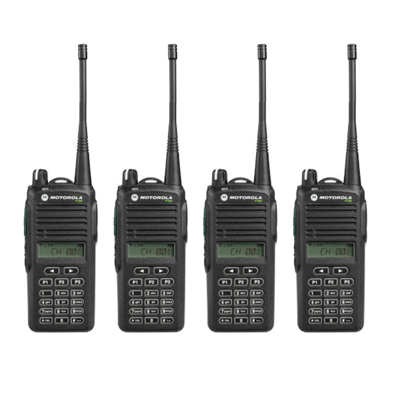 Motorola P165/P185 QUAD PACK - Analogue Two-Way Radios with Chargers