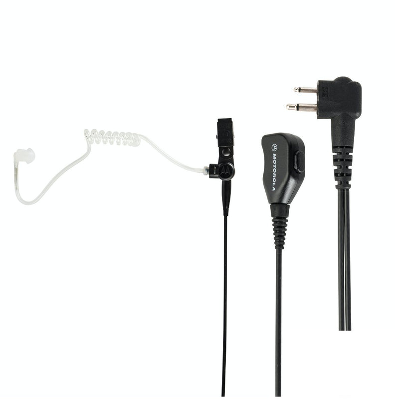 Two-wire earpiece with clear acoustic tube with inline PTT (for DP1000 series)