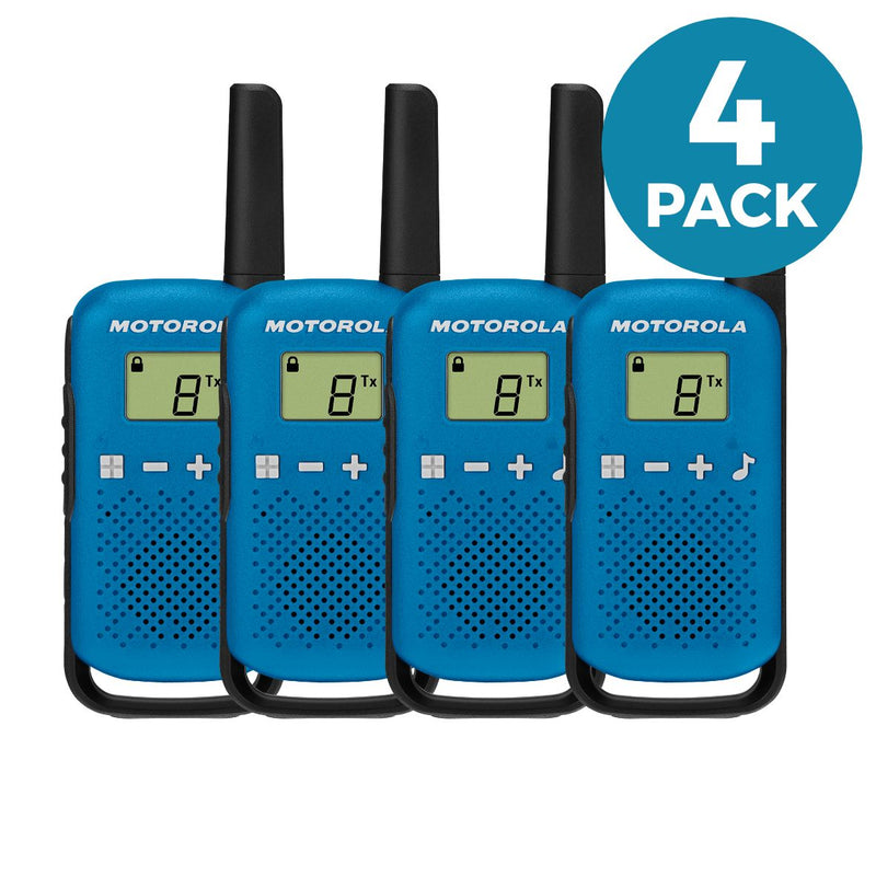 Motorola T42 Walkie Talkies - Quad Pack