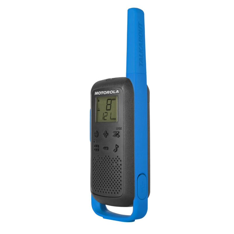 Motorola T62 Walkie Talkies - BLUE Twin Pack