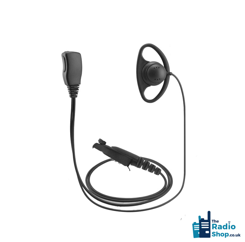 Value Range 2-wire D-Shell earpiece with Mic & PTT (for GP344 Series)