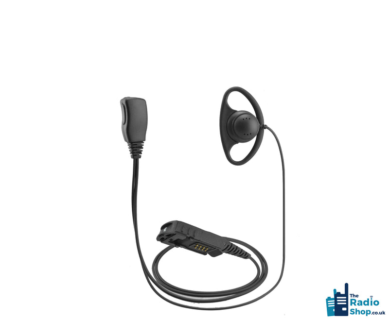 Value Range 2-wire D-Shell earpiece with Mic & PTT (for DP2000e & DP3000e Series)