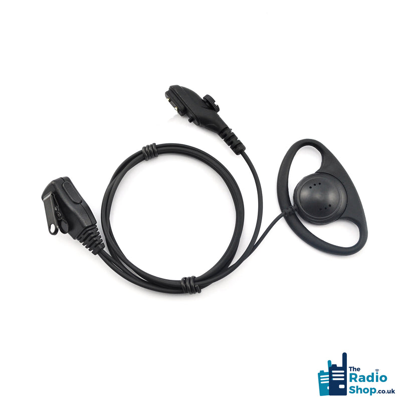 Value Range 2-wire D-Shell earpiece with Mic & PTT (for PD6 Series)