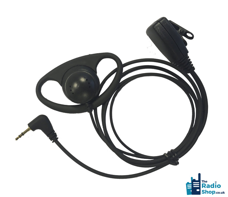 Value Range 2-wire D-Shell earpiece with Mic & PTT (for TLKR Licence Free Series)