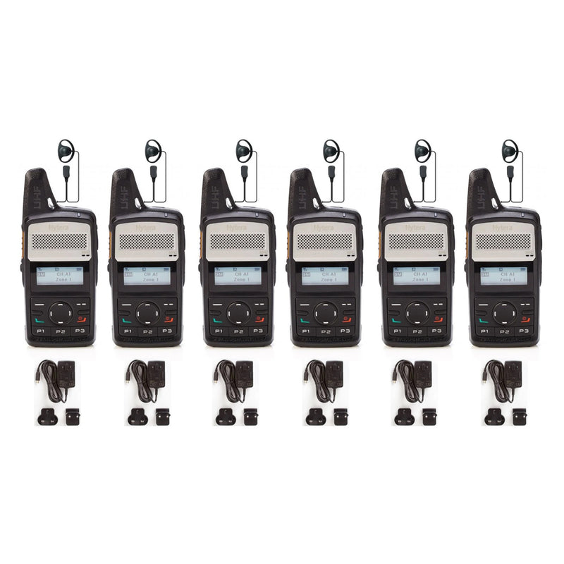 Hytera PD365LF SIX PACK with Chargers & Earpieces