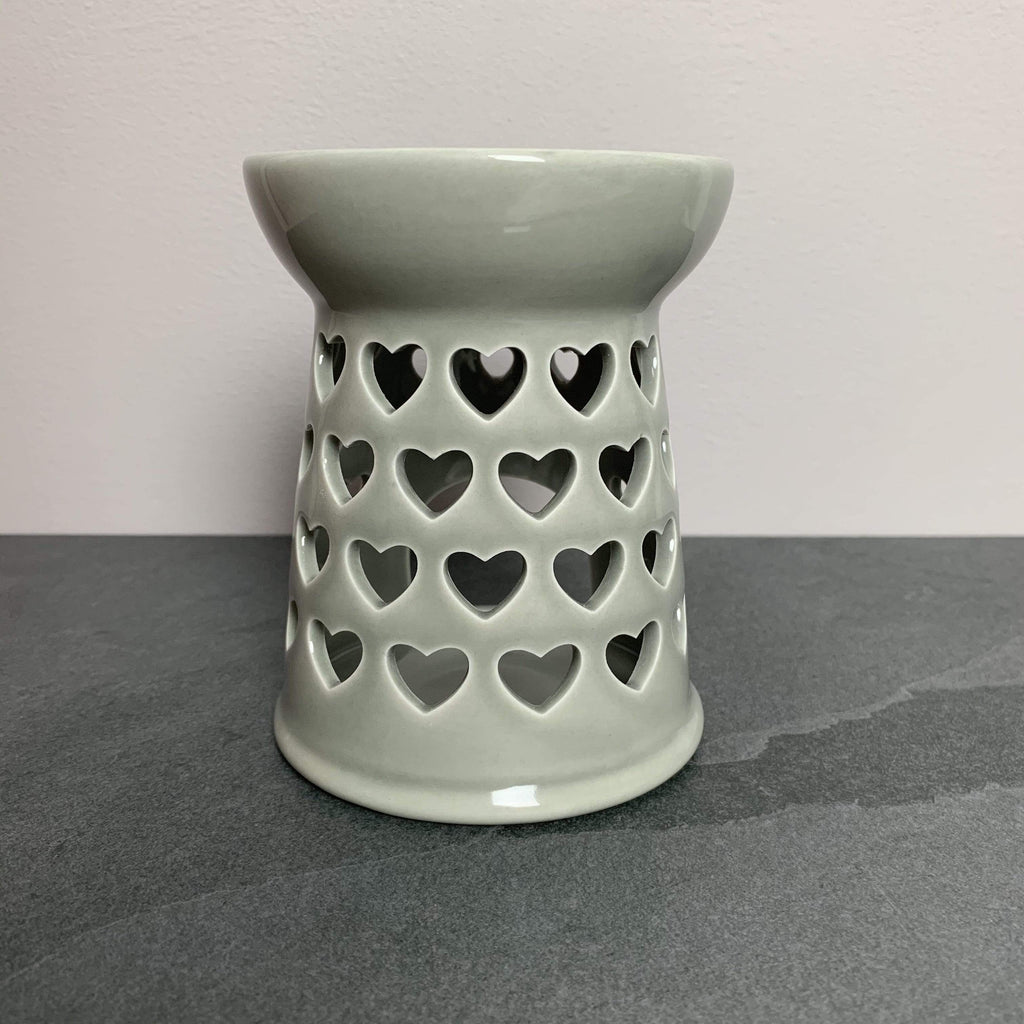 Devon Wick Candle Co. Limited Large Grey Ceramic Heart Wax Melter