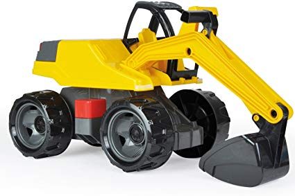 Lena® Powerful Giants Excavator Truck, Yellow and Red, BPA and Phthalates Free