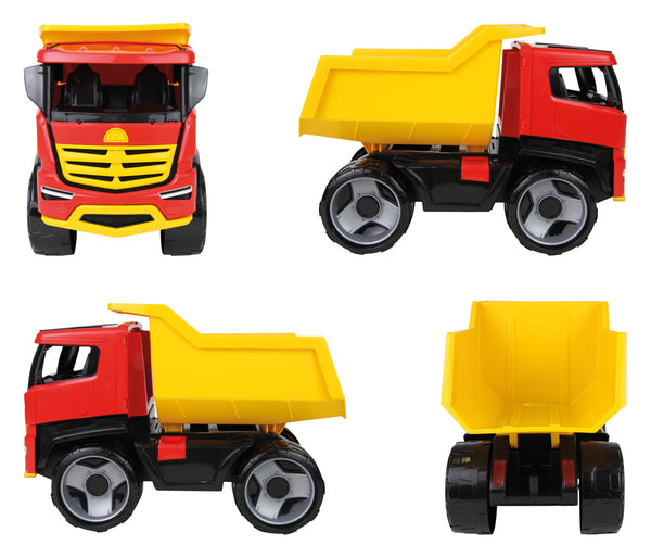 Lena Gigantic Ride On Classic Toy Dump Truck Titan Mighty Builders Series is Designed for Dirt Sand in/Or Outdoor Play Safe 2+ Boys Or Girls