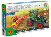 Tractor & Soil Till (Disc Harrow) Fred & Emily Metal Construction Model Building Kit by Alexander