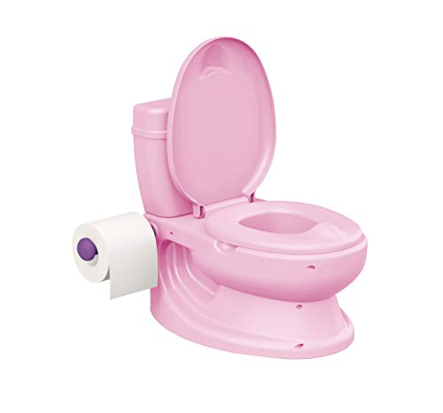 ToyLet Toilet Training Potty with a toilet seat cover wipes storage & paper roll holder PINK