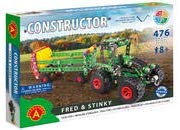Tractor & Manure Spreader Fred & Stinky Metal Construction Model Building Kit by Alexander
