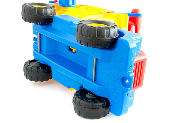 Truck No. 1 Ride On Dump Truck With Easy Grip Handles By Wader Quality Toys