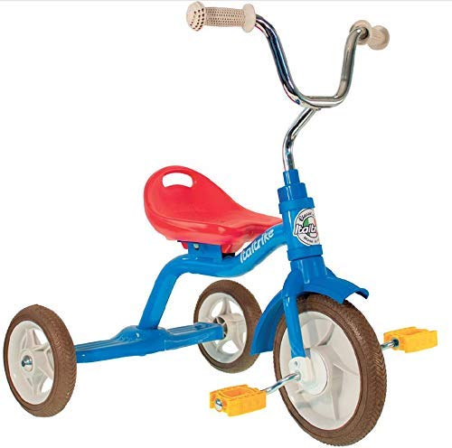 "Classic 10"" Super Touring Colorama Tricycle, in Red Yellow and Blue by Italtrike"
