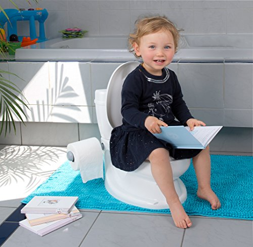 ToyLet Toilet Training Potty with a toilet seat cover wipes storage & paper roll holder WHITE