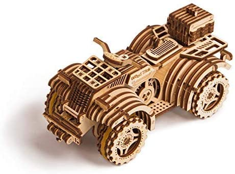 ATV Mechanical Model 3D Wooden Puzzle DIY Kit by Wood Tricks