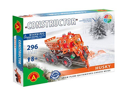 Husky Snow Plow Metal Construction Model Building Kit by Alexander