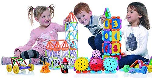 Supermag Maxi Magnetic Building Set with Rods / Balls for 2D 3D Building with Rods in 2 Sizes 66 Pcs