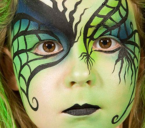 Professional Quality Face And Body Paint, 20ml Cake Pot, Anise Green by Grim Tout