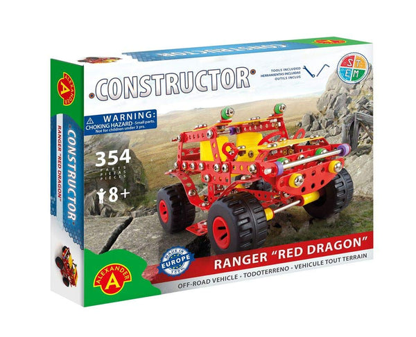 Ranger 'Red Dragon'Off-Road Vehicle Pure Metal Construction Model Building Kit by Alexander Constructor