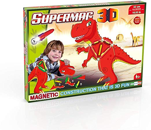 Supermag 3D T-Rex Children's Magnetic Construction Set