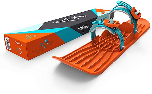 One Foot Mini Ski with Binding - Blazing Orange by Gizmo Riders