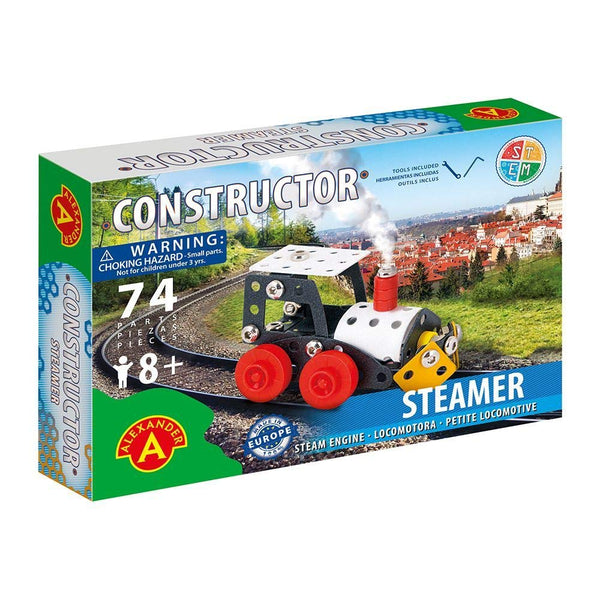Steamer Steam Engine Pure Metal Construction Model STEM Building Kit by Alexander Constructor