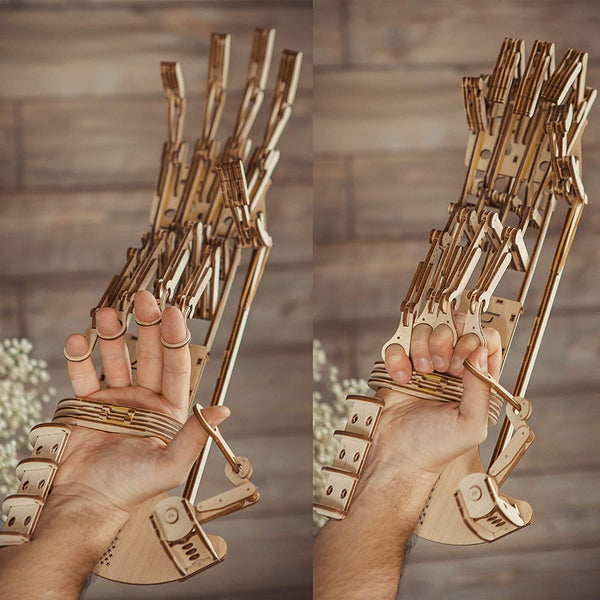 Robotic Arm Mechanical Hand 3D Wooden Puzzle By Wood Tricks