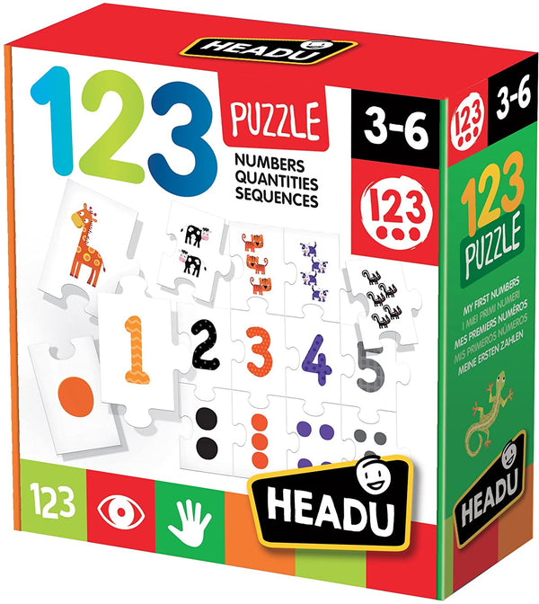 123 Educational Puzzle Explaining Numbers, Quantities and Esquences for KsmToys by Headu