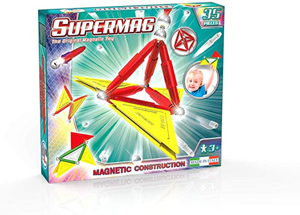 Supermag Tags Primary 35 Children's Magnetic Construction Set