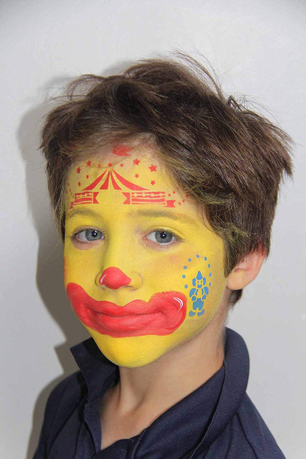 Circus Face Painting Stencils by Grim Tout