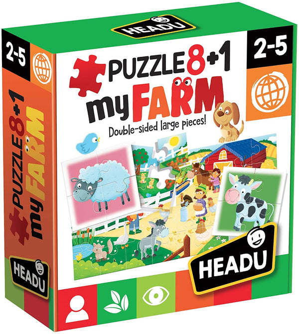 My Farm Double-Sided Large Peace Jig Saw Puzzle for Ksmtoys by Headu.