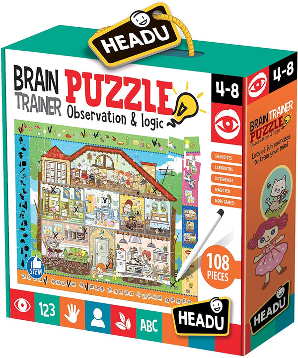 Brain-Trainer Educational Puzzle & Children's Development Game 108 Pcs. for KsmToys by Heady