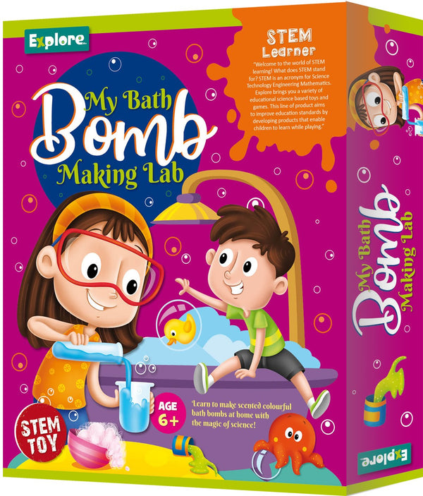 Fizzy Bath Bomb Making Lab; Bath Bomb Making kit for Girls and Boys. 6+ by BeakerLabz