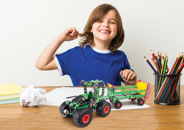 Tractor Fred Metal Construction Model Building Kit by Alexander