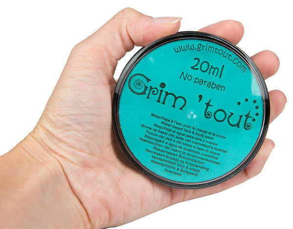 Professional Quality Face And Body Paint, 20ml Cake Pot, Lagoon Blue by Grim Tout