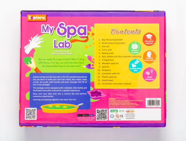 My Spa Lab Make Your Spa kit for Children Create Lotions Bath Bombs Masks 6+ by BeakerLabz