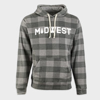 Midwest Pine Gray Buffalo Check Hoodie